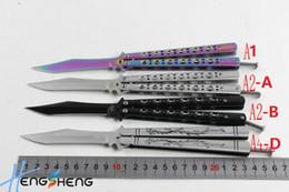 Wholesale Colorful Knife Folding - Bestselling 4styles free swinging Knives  free swinging knife Balisong Knife C42 C56 butterfly knife colorful wholesale & free shipping
