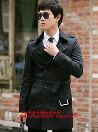 Wholesale Men S Cashmere Coat Belt - Men in the spring and autumn fashion boutique shoulder belt trench coat of cultivate one's morality of England   S-3XL