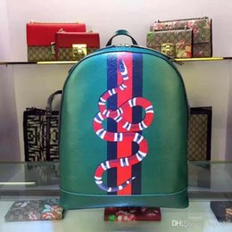 Wholesale Patterns Hand Fashion Bags - Fashion Backpack Bags High quality brand hand-made snake pattern Style Size 32X40.6X14.9 cm model 143714260 No box