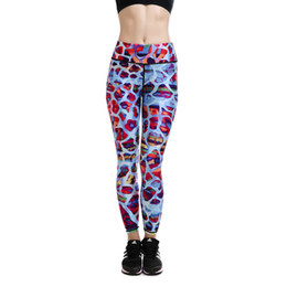 Wholesale Yoga Capris Size L - Womens Plus Size Digital Print High Waist Fitness Yoga Slim Pencil Pants Female Fashion Gym Sports Skinny Trousers XL