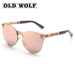 Wholesale Brand Catwalk - Wholesale-2016 NEW Hot Brand Fashion Medusa Sunglasses Men Women Brand Eyewear Travel UV400 Rose Pink Sunglasses Catwalk Models Style