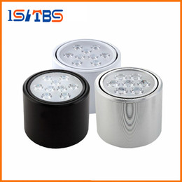 Wholesale Downlights Living Room - High Power COB LED Downlights 3W 5W 7W 9W 12W Ceiling Lamp AC85-265V LED Down Light Indoor Spot Lights Surface Mounted