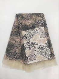 Wholesale Organza Wedding Embroidered Lace Fabric - Hot embroidered African lace fabric swiss voile guipure organza material French net tulle lace with stones for wedding dress