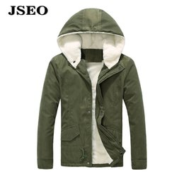 Wholesale Cotton Lined Coats - JSEO Wen Winter Cotton Hooded Down Jacket Outwear Coat Outdoor Quilted Down Puffer Hooded Coat Fleece Lined Waterproof Jacket
