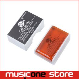 Wholesale Square Shape Box - Leto Good Quality Violin Viola Cello Rosin Square Shape with Plasic Box Black