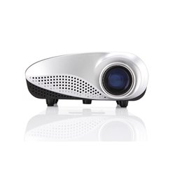 Wholesale Micro Dlp Projector - Wholesale- Rigal RD-802 Multi-media Mini 120 Lumens Portable LED Projection Micro Home Theater Projector