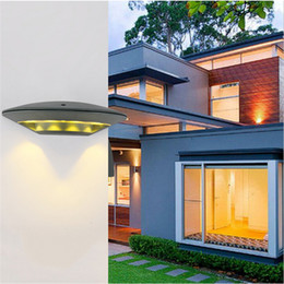 Wholesale Exterior Led Lamps - LED exterior wall lamp outdoor lights sconces 12w led light garden outdoor wall lights modern 100-240V aluminum rustproof