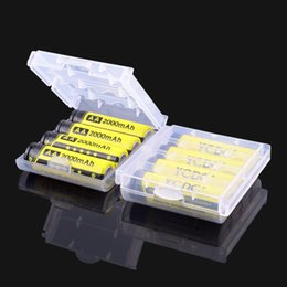 Wholesale Pilas Aa - Rechargeable Batteries YCDC 0riginal 4pcs Lot 55x14.5mm 1.2V NiMh AA 2000 mAh Battery Rechargeable AA Batteries pilas recargables Ni-Mh N...