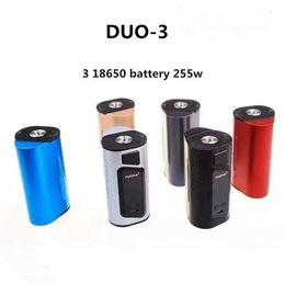 100% original sigelei fuchai duo-3 tc box mod 2 18650 bateria 175 w 3 bateria 255 w 6 cores 1.0 tela oled 510 fio de