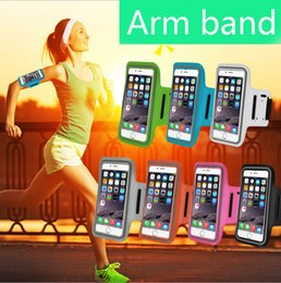 Wholesale Wholesale Leather Arm Bands - For Iphone 6 Waterproof Sports Running Case Armband Running bag Workout Armband Holder Pounch For iphone Cell Mobile Phone Arm Bag Band