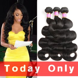 Wholesale Natural Wave Cambodian - 10A Mink Brazilian Virgin Hair Body Wave 4 Bundles Unprocessed Peruvian Raw Indian Malaysian Wet And Wavy Human Hair Extensions