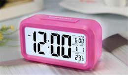 Wholesale Time Date Temperature Led Clock - Time Date Alarm Clock Temperature Display LED Alarm Clock Light-activated Sense Snooze Function Calendar Digital Clock Reveil