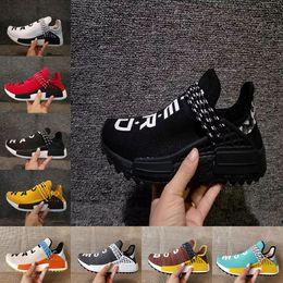 Wholesale Spring Nude - New Pharrell x Original HU NMD Trail HUMAN RACE NERD black men women sports sneaker noble ink pale nude running Shoes size 36-47
