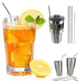 Wholesale Sip Cups - New Drinkware 30OZ 20OZ Straws for Stainless Steel Cups Drinking Straws bent straight straws Sip Well Straw Brush  drinking straw I096