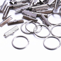 Wholesale Connector Jewellery - 50Set 25mm Jewelry Findings & Components Connectors buckle Metal jewellery clip