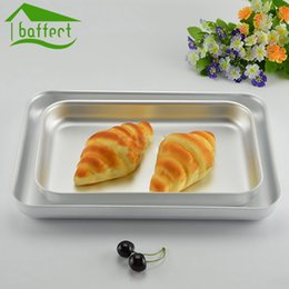 Wholesale Disposable Tray Plates - Wholesale- Cake Baking Pans dishes Cookie Tray Baking Sheet Plate Pizza Pan High Quality Thicked Aluminum Alloy Pans