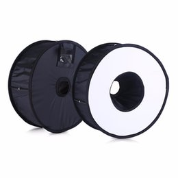 Wholesale Softbox Light Soft Box - Ring Softbox For SpeedLite Flash light 45cm Foldable Difusor Macro Shoot Soft box for Canon Nikon Nissin Metz Godox Speedlight
