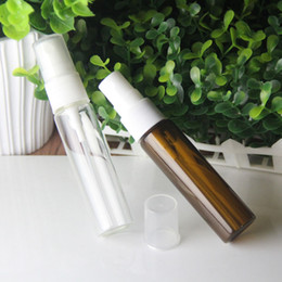 Wholesale Pump Water Sprayers - 20ml perfume bottles atomization tube glass bottle with spray cover for Toilet water & essential oils and medicine made in china
