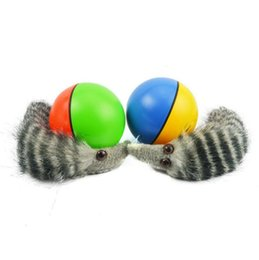 Wholesale Pets Alive - Pet Dog Cat Weasel Funny Motorized Rolling Ball Appears Jump Moving Alive Toy Weasel Chases Ball OOA2536
