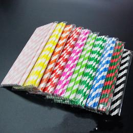 pajitas de papel Rebajas Suministro Spot Paja Rayada Protección Medioambiental Papel Paja FDA Inspección de Alimentos Alimentos Grado Straight Straws 0 08xm R