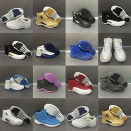 Wholesale Diamond Men Shoes - 2017 Mens Air Retro 12 Red Rouge Black Diamond Purple Grey White Blue Basketball Shoes Sneakers for Men Outdoor Sports Shoes Size US8-US13