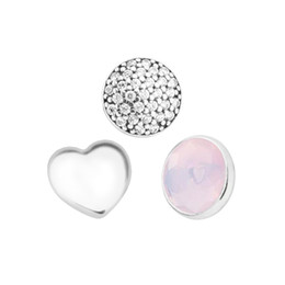981588b07 October Petites Opalescent Pink Crystal & CZ Charm for Locket necklace  Charms Fits Pandora Bracelet sterling silver jewelry making charms