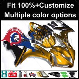 Argentina Cubierta de la motocicleta del kit de oro negro del molde de inyección para Yamaha YZF-R1 2004-2006 04 05 06 YZFR1 2004 2005 2006 Carenado de plástico ABS cheap r1 plastics kit Suministro