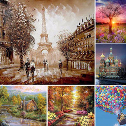 Wholesale Wholesale Church Decorations - 3D DIY Diamond Embroidery Impressionist Arts Painting Church Home Decoration Diamond Painting Cross Stitch