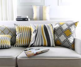 Wholesale zebra pillows - Geometric Rhombus Morocco Tile Pattern Cushion Covers Nordic Zebra Stripes Plaids Cushion Cover Decorative Velvet Pillow Case For Sofa Chair