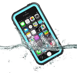 Wholesale Armor Series Iphone - For iPhone se plus Redpepper Waterproof Case Full Cover Duty Armor Shockproof Swimming Protective Shell dot series