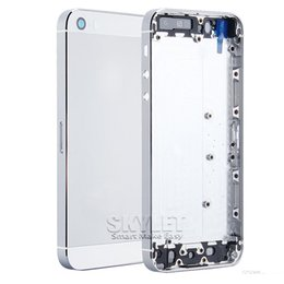 Wholesale Iphone Frame Housing Gold - For iPhone 5S 5G 6G 6Gp Metal Battery Gold Back Housing Cover door Mid Frame Assembly With Full Small Part Replacement Middle Bezel