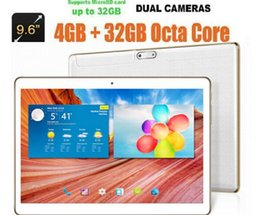 Wholesale 3g Phone Calls Tablet Pc - Wholesale- 9.6 inch 3G 4G Lte Tablet pc Octa Core 4G RAM 32GB ROM Dual SIM Android 5.1 GPS 1280*800 IPS 9 10 Tablet+Gifts Free Shipping