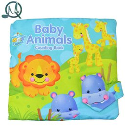 Wholesale Counting Books - Wholesale- MQ Baby Animals Counting Cloth Book Baby Book Children Education Toys Early Development Education kids Toy