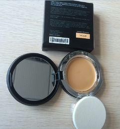 Wholesale Powder Creme - 100pcs YQ Mineral Touch Cream Foundation face powder TEINT CREME 0.46OZ 13g 10 colors