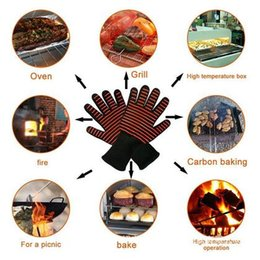 2019 gants isolants Gant isolé antidérapant Gants de four Gants résistants à la chaleur, à haute température Gants de four à micro-ondes CCA6253 60pair promotion gants isolants