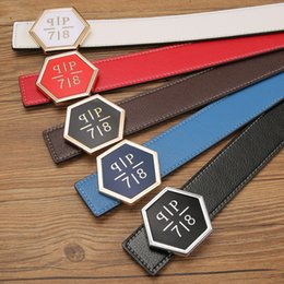 Wholesale Yellow White Belts For Men - Fashion Designer Brand PP Belt Men's and Women Luxury Big Buckle Belts Genuine Leather Cowhide strap Waistband Q Belt For Man Gift