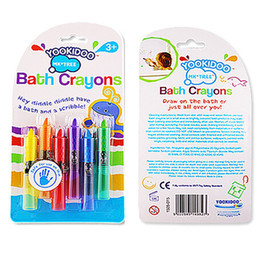 Wholesale Toddler Toy Wholesalers - Wholesale- 6pcs Lot NEW Baby Toddler Washable Bath Crayons Bathtime Fun Play Educational Kids Toy CX872958