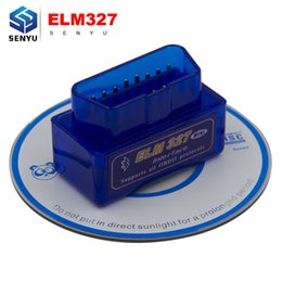 Wholesale Obd Android Torque - Wholesale- Super Mini ELM327 v2.1 Bluetooth OBD OBD2 V2.1 MINI ELM 327 Bluetooth for Android Torque Work with ELM 327 Car Code Scanner