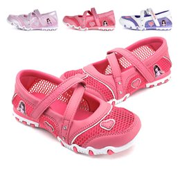 Wholesale Kids Purple Dress Shoes - Enfants 2016 Kids Girls Princess Sandals High Heel Children Girl Wedding Shoes Girl Dress Party Shoes For Girls