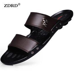Wholesale Design New Sandal - Wholesale-2016 New Design Men Sandals Men Breathable PU Leather Sandals Summer Flat Heel Casual Sandals Men Beach Flip Flops Slippers
