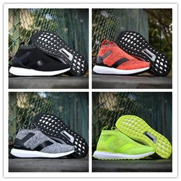 Wholesale Table Size Shoes - Original Ace 16 Shoes Ultra Boost II Uncaged Sport Running Shoes Men Beckham pink yellow blue grey Sports shoes size 40-45