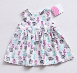 Wholesale Girls Birthday Dress Patterns - Baby Girl Dress White Corduroy Pattern Sleeveless O-Neck 1 Year Birthday Dress Cute Newborn Summer Children Clothing