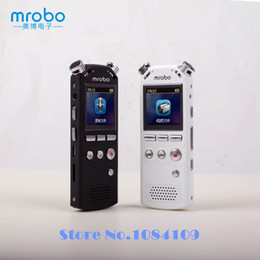 Caneta de câmera 8g on-line-Atacado-Mrobo M58 Mini Caneta Caneta HD Gravador de Voz de Áudio Digital Som Caneta Gravador De Voz Espia MP3 Player 8G Ditafone + fone de ouvido
