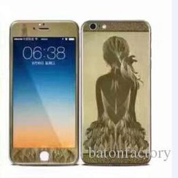 Wholesale Iphone Body Price - Glass screen protective film iphone4g 5g 7 6G plating carbon fiber price iphone4g 5g 7 6G plus full coverage Apple 6plus full-screen protect
