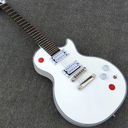 Wholesale Alpine White - Custom Arcade Button Killswitch Buckethead Signature Alpine White Electric Guitar Rosewood Fingerboard No Inlays 24 Jumbo Frets Top Selling