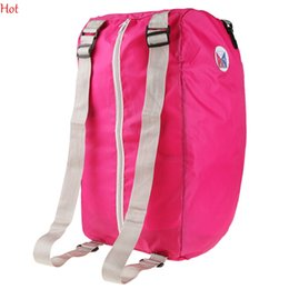 Wholesale Women Bluse - Hot Folding Nylon Bags Women Travel Backpack Bags Large Capacity Luggage Bags Backpacks Travel Bag Day Packes Bluse Green Rose Red SV005271