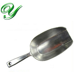 Wholesale Wholesale Beans Grains - stainless steel ice cube scoop wedding candy flour Coffee Bean buffet grain scoops 2 sizes bar accessories kitchen scraper.