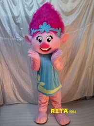 Wholesale Princess Mascot Costumes - Troll Princess Poppy Mascot Costume Free Shipping