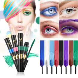 Wholesale Eyelash Curl Cream - NEW HML Professional Women Multi-functional Mascara Waterproof Long Curling Natural Eyelash Cream 8 Color Mascara Eye Lashes Brush Makeup