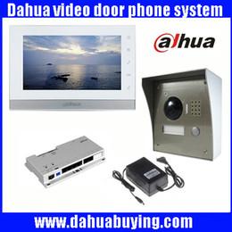 "Wholesale Intercom Video Camera - Original english 7"" Touch Screen Dahua VTH1550CH Color Monitor with VTO2000A outdoor IP Metal Villa Outdoor Video Intercom sysytem VTOb108"